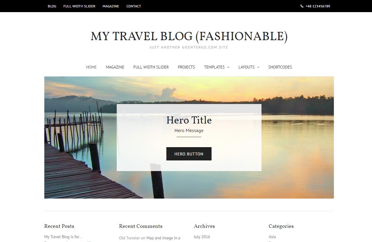 Fantastisch Reise Blog Vorlage Fotos - Entry Level Resume Vorlagen ...